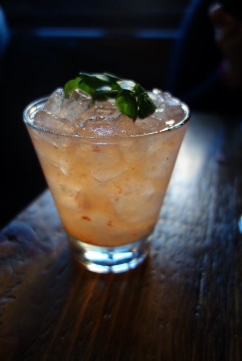 Verbena - Rocket and Rose (gin, strawberry, arugula-pepper syrup, lemon, genepy) (2)