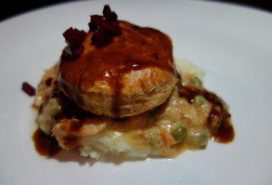 Rabbit and Andouille Pot Pie