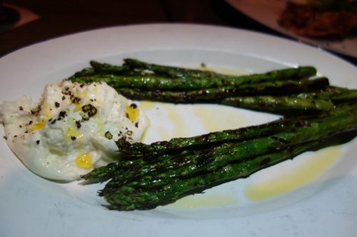 Asparagus & Burrata (olive oil, lemon)