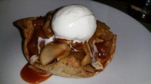Honey Crisp Apple Tart with Pumpkin Seed Crust and Mascarpone Gelato