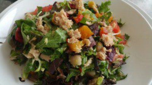 Mark's Madison Avenue Salad (chopped salad with a dozen vegetables and local salad greens, topped with imported Italian tuna)
