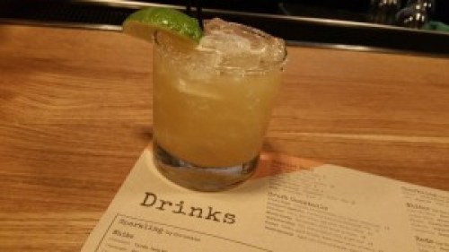 Smoke Stack (Chipotle infused tequila, lime, agave, smoked salt)