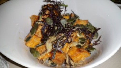 Sweet Potatoes, Shitake, Pumpkin Seeds