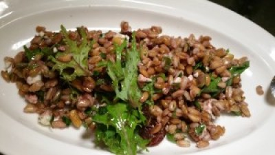 Castle Valley Farro Salad, Dried Cherries, Feta, Pinenuts