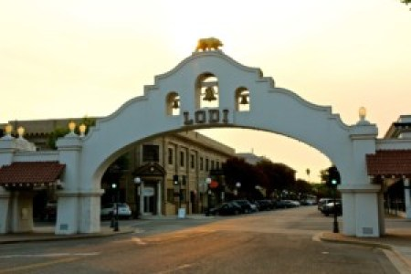 Historic Lodi Arch Downtown Lodi (Photography by Randy Caparoso)