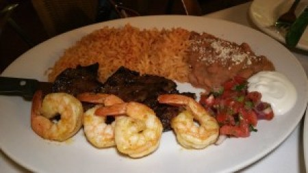 Carne Asada and Shrimp