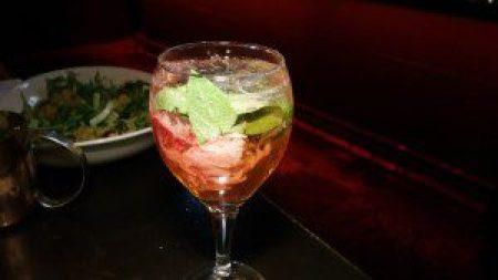 The Abbey Modern Lemon Strawberry Basil Gin and Tonic