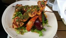 CHARCOAL GRILLED CHICKEN KEBAB PLATE