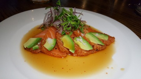 seared-salmon-sashimi-togarashi-crust-avocado-cilantro-jalapeno-salad
