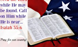Seek God with your whole heart and Pray for America!