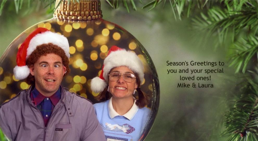 Couple Sends Out Hilarious Christmas Card Photos Every