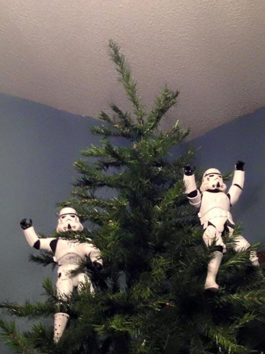 Guy Assembles Christmas Tree Star Wars Style 17 Pics