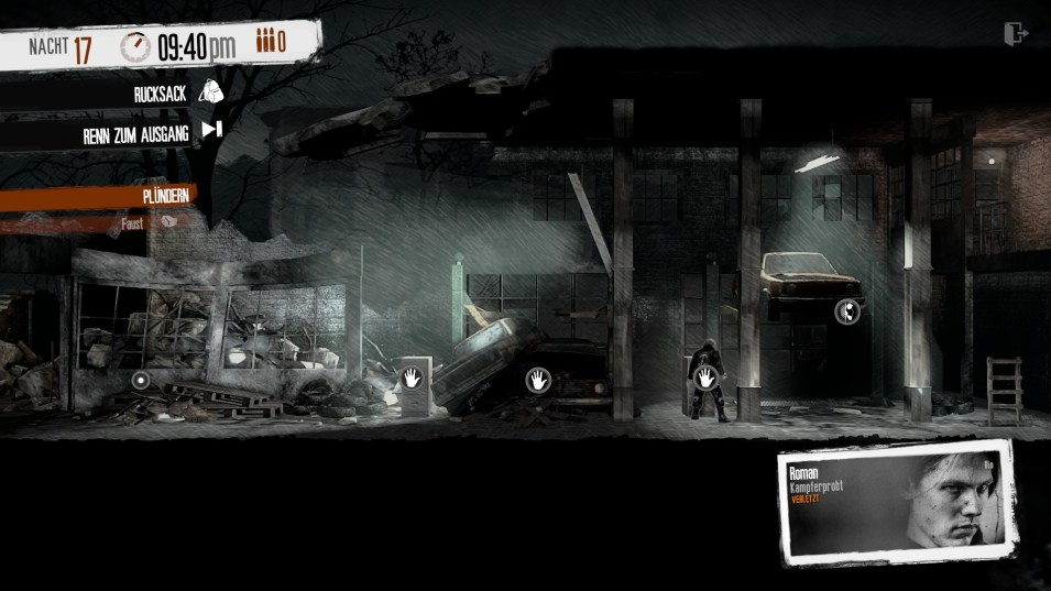 This War of mine: Unterwegs in einer Autowerkstatt