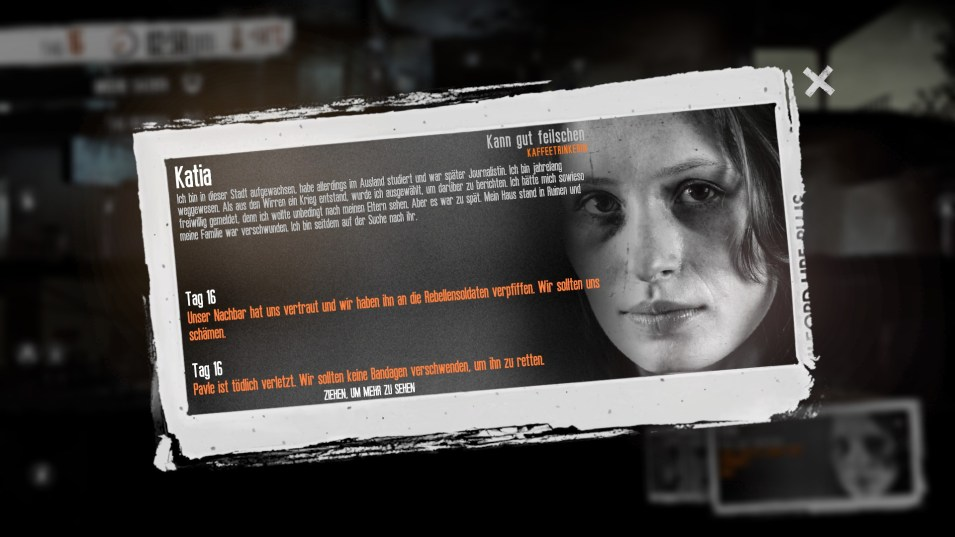 This War of mine: Tagebucheintrag unserer Quotenfrau