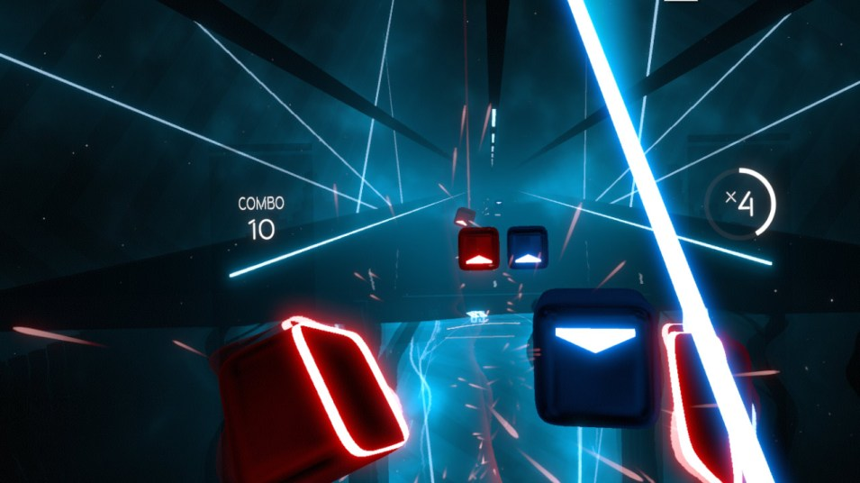 Laser-Action mit Beat Saber