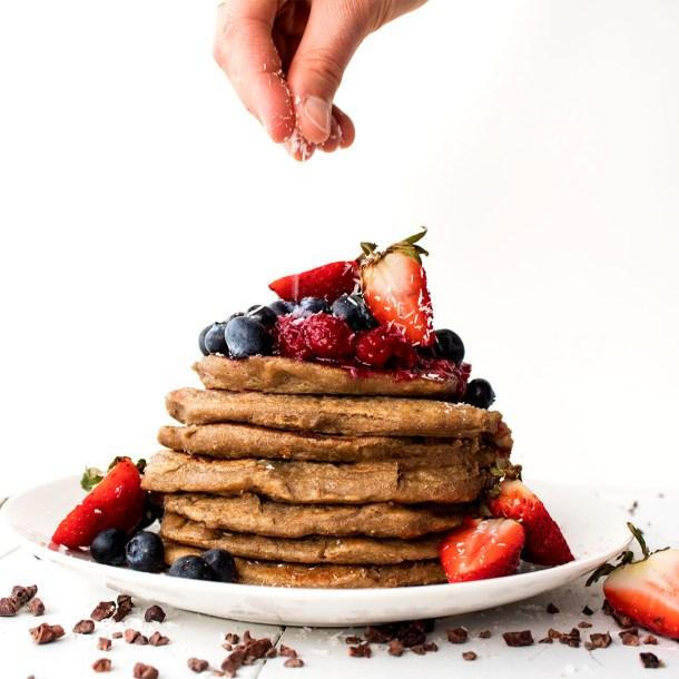 gluten free vegan banana pancakes 3 ingredients