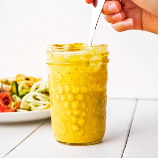 Miso Vegan turmeric hummus dressing