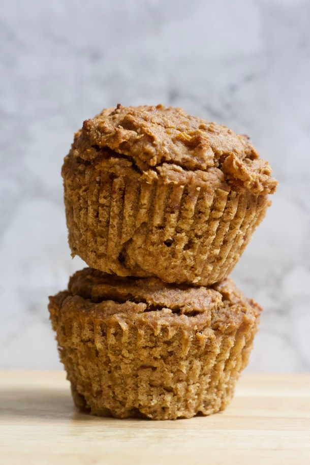 Low-fat peanut butter and jelly muffins (vegan & gluten free)