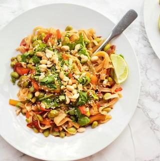 healthy homemade vegan pad thai