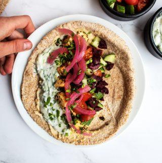 Vegan Greek Tofu Pita
