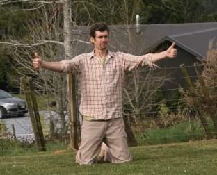 Dan testing the wind