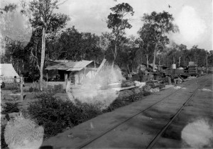 The photo of the railway track from Porto Casada to the new colony is an example of the kind of damage the photos have suffered. McRoberts photo #4.