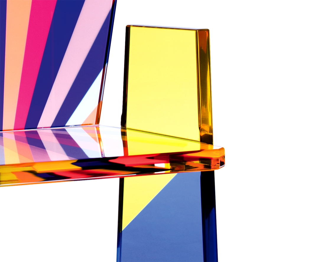 Armchair In Plexiglass Tronetto Cast Acrylic Furnishings