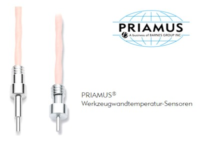 Cavity temperature sensor in Plastic Industry by PRIAMUS