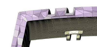 边界层网格 (Boundary Layer Mesh) in 用于塑料工业