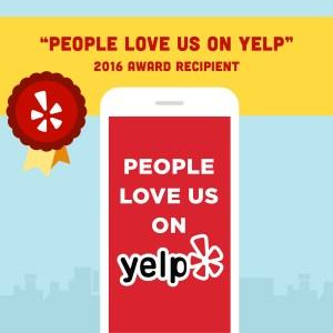 People Love Premier Law Group on Yelp award 2016
