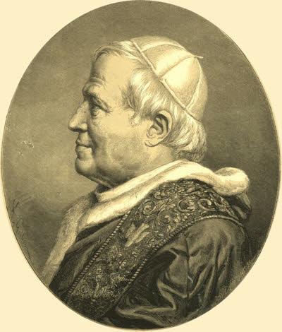 Beato Pio IX - gravura da época