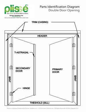 Doorway Parts Identification  Retractable Screens for