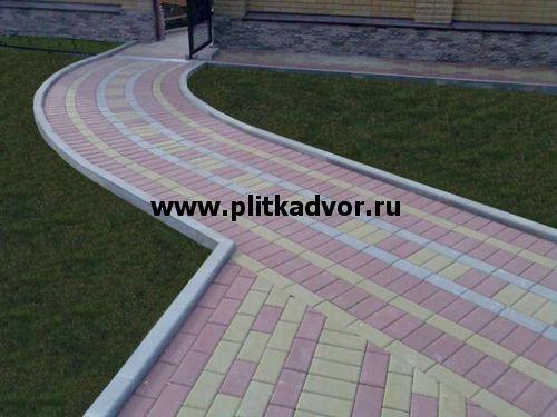 Укладка тротуарной плитки: цена за квадратный метр