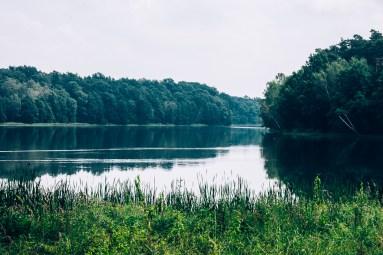 Jezioro Kowalskie widok z zapory