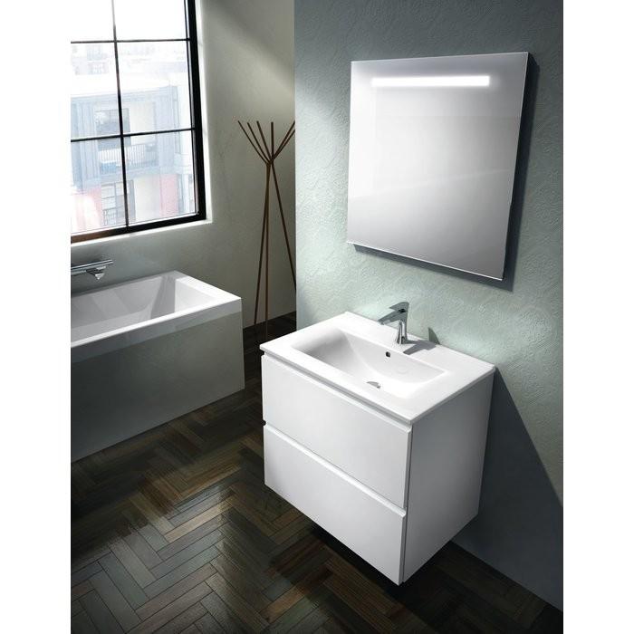 ensemble meuble vasque 70 cm laque blanc europa plomberie online