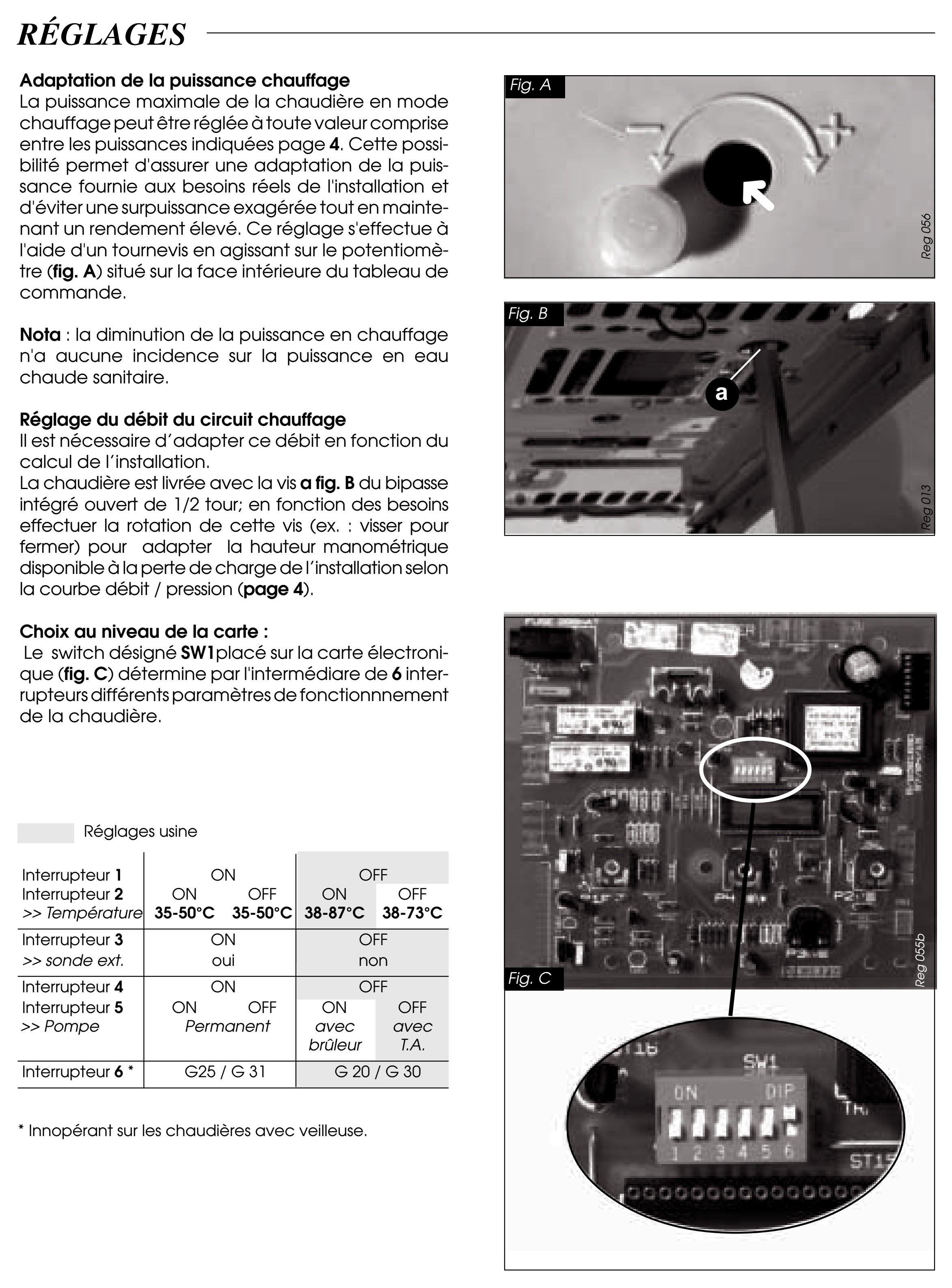 Thermostat Et Chaudiere Gaz Saunier Duval Thema C23e Page 1 Regulations Et Thermostats D Ambiance Plombiers Reunis
