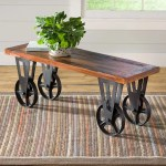 Allegheny Reclaimed Wood Coffee Table With Wheels Plowhearth