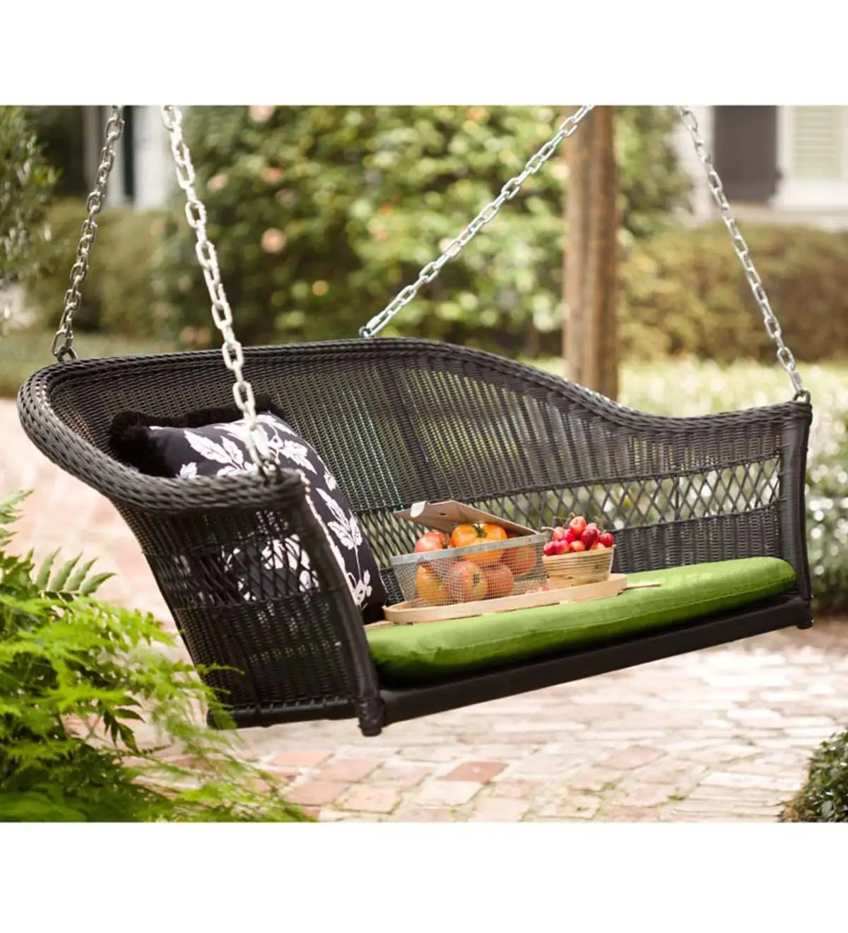 Easy Care Resin Wicker Swing | Swings & Hammocks | Outdoor ... on Outdoor Living Wicker  id=84360