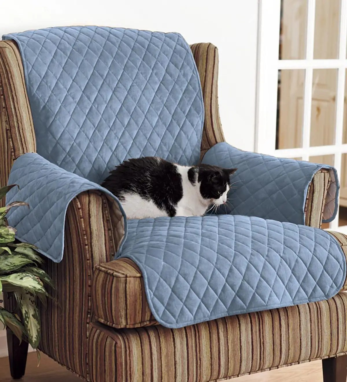 Polyester Pet Sofa Protective Cover Blue Plowhearth