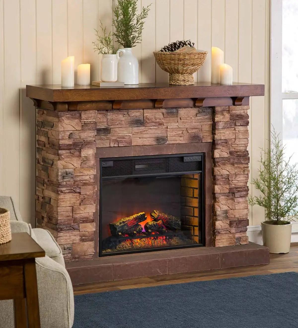Quartz Infrared Stone Fireplace