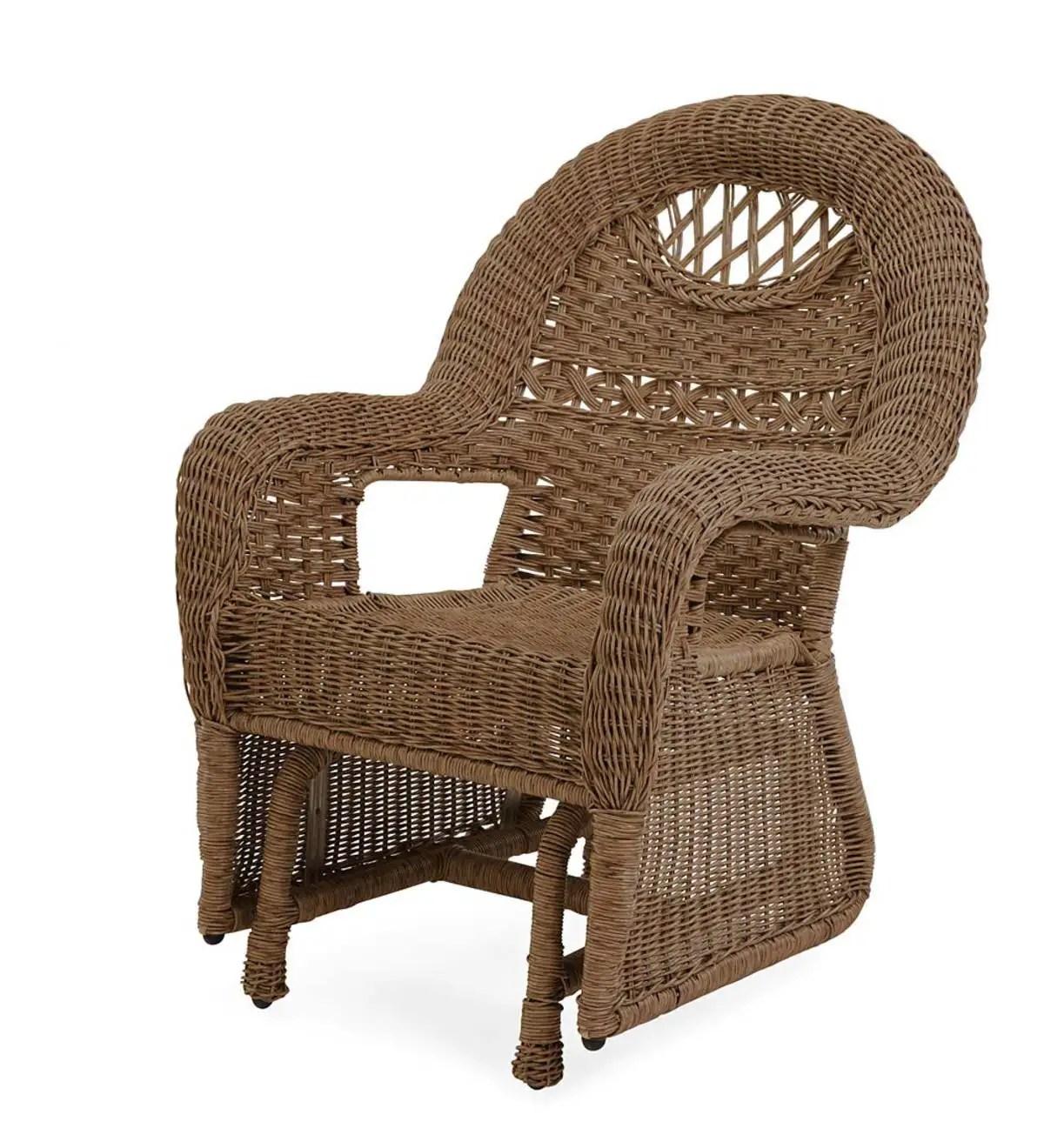 prospect hill wicker chair glider beach house walnut plowhearth