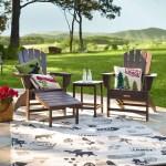 Polywood Adirondack Chair With Hideaway Ottoman Aruba Plowhearth