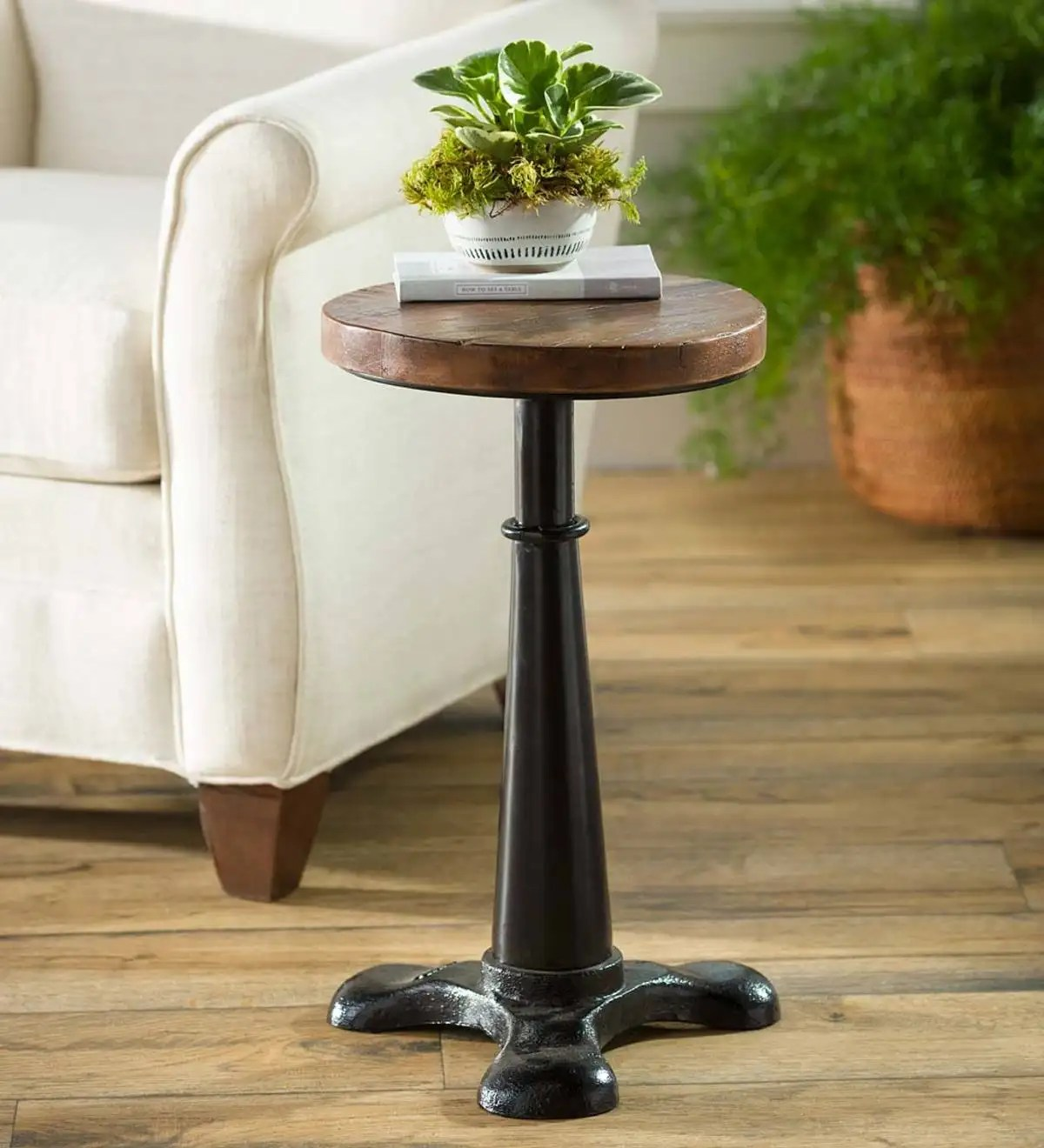 Allegheny Reclaimed Wood Adjustable Height Table Plowhearth