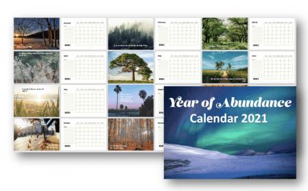 2021 Abundance Calendar