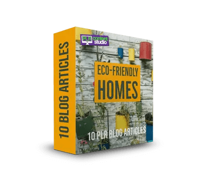 Eco-Friendly Homes PLR Articles Pack$7.99