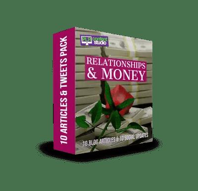 Relationships & Money PLR Article & Tweet Package