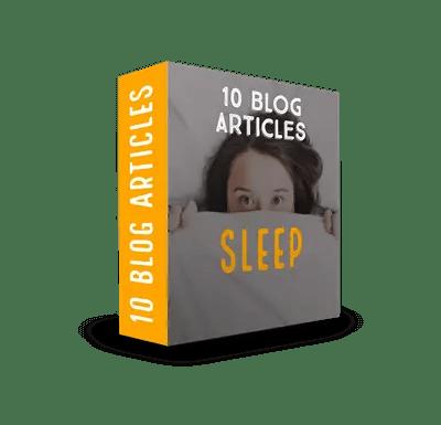 Sleep PLR Article Pack$7.99