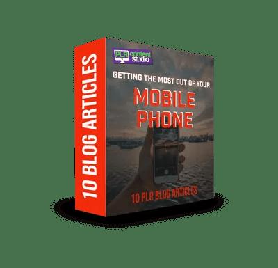 Mobile Phones PLR Article Pack  $9.99