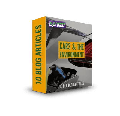 Cars and the Environment PLR Article Pack