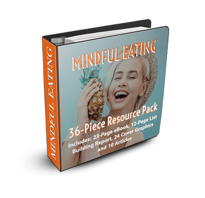 Mindful Eating 36-Piece PLR Resource Pack Only $17